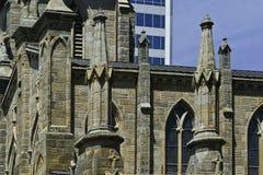 教会尖顶 库存照片