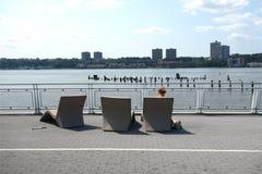 南河沿的公园 免版税库存照片