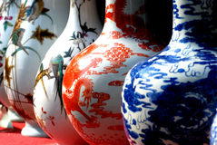 中国文件瓷花瓶 免版税库存照片