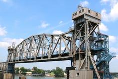 连接点桥梁,街市小岩城阿肯色 库存图片