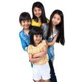 四小女孩 库存照片
