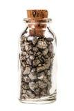 被装瓶的硫铁矿 库存图片
