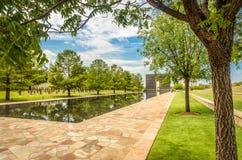 俄克拉何马全国纪念品的水池 图库摄影