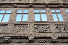Ιστορικό μισό-εφοδιασμένο με ξύλα σπίτι Στοκ φωτογραφία με δικαίωμα ελεύθερης χρήσης
