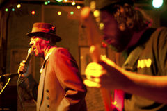 蓝色音乐家,密西西比 免版税库存照片