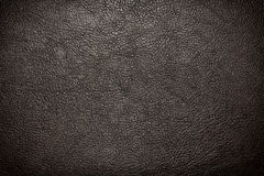 黑皮革纹理或背景 库存图片