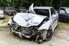 汽车失事了 免版税库存图片