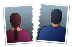 夫妇离婚 免版税库存照片
