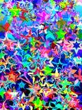 χρωματισμένα αστέρια Στοκ Εικόνα