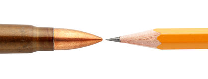 Патрон и карандаш Стоковые Изображения RF