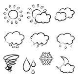乱画天气象集合 图库摄影