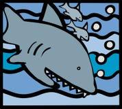 鲨鱼家庭 库存图片