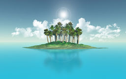 Остров пальмы Стоковые Изображения RF