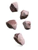 花岗岩石头,被设置的岩石 免版税库存图片