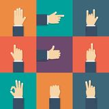 Επίπεδο εικονίδιο χεριών Στοκ φωτογραφίες με δικαίωμα ελεύθερης χρήσης