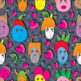 Картина шальной черной семьи сердца безшовная Стоковые Фото