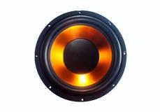 超低音扬声器报告人 库存图片
