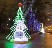 圣诞节莫斯科 免版税库存照片