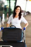 Женщина путешествуя воздух Стоковые Изображения