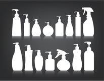 Косметики разливают упаковывая вектор по бутылкам Стоковые Фотографии RF