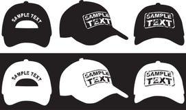 Бейсбольная кепка, фронт, задняя часть и взгляд со стороны вектор Стоковые Фотографии RF