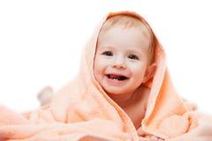 小逗人喜爱的新出生的小孩子 免版税库存图片