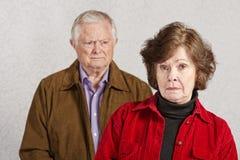 不快乐的夫妇 免版税库存图片
