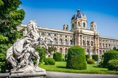 著名自然历史博物馆在维也纳,奥地利 免版税库存照片