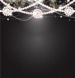 秀丽珍珠背景向量例证 免版税图库摄影