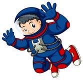 一位宇航员在天空中 免版税库存图片