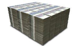 英磅纯正的笔记捆绑堆 免版税库存照片