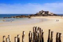 堡垒全国圣马洛湾法国 免版税库存图片