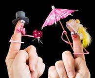 Любящие пары валентинки Стоковая Фотография