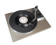 有唱片的葡萄酒电唱机 免版税库存图片