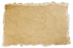 老粗砺的纸被撕毁的张  免版税图库摄影