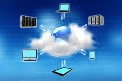 覆盖沟通的计算机计算的概念膝上型计算机被找出的资源 免版税库存图片