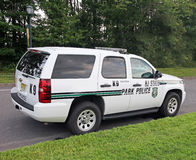Полицейский автомобиль парка штата Стоковое Изображение