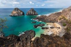 两个兄弟费尔南多・迪诺罗尼亚群岛海岛 免版税库存图片