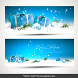 απομονωμένο Χριστούγεννα σύνολο εμβλημάτων Στοκ φωτογραφία με δικαίωμα ελεύθερης χρήσης