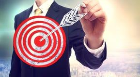 Цель чертежа бизнесмена Стоковое Изображение RF