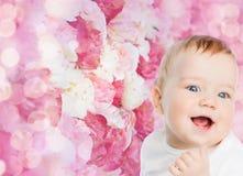 婴孩微笑的一点 图库摄影