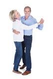 成熟夫妇跳舞画象  库存图片