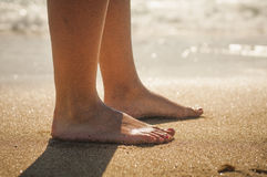 прогулка пляжа Стоковые Фотографии RF