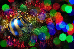 圣诞节闪亮金属片迷离 图库摄影