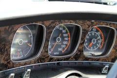 Κλασικοί μετρητές αυτοκινήτων μυών Στοκ Φωτογραφία
