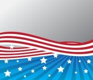 爱国:在样式的美国国旗 免版税库存照片