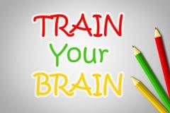 训练您的脑子概念 库存图片