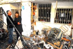 对以色列的巴勒斯坦火箭攻击 免版税库存照片