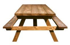 野餐桌正面图 免版税库存照片