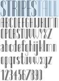 典雅的高镶边减速火箭的样式艺术性的字体 库存图片